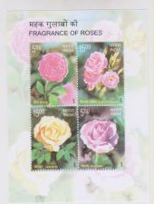 Buy INDIA MINIATURE SHEET FRAGRANCE OF ROSES YEAR 2007 MINT NEVER HINGED THEME FLOWERS