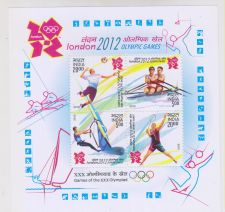 Buy INDIA M/S MINIATURE SHEET LONDON OLYMPIC GAMES YEAR 2012 MNH MINT NEVER HINGED