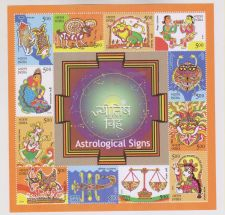 Buy INDIA M/S MINIATURE SHEET ON ASTROLOGICAL SIGNS YEAR 2010 MNH MINT NEVER HINGED