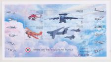 Buy INDIA M/S MINIATURE SHEET ON INDIAN AIR FORCE PLATINUM JUBILEE YEAR 1932 2007 MNH