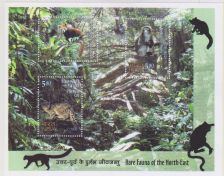 Buy INDIA M/S MINIATURE SHEET ON RARE FAUNA OF NORTH EAST INDIA YEAR 2009 MNH MINT