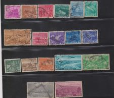 Buy India Five Year Plan 1955 Stamp Set Full 18 Stamps Used 5th Anniversary Of Republic