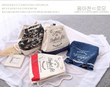 Buy Korean Fashion Institute of canvas rope drawstring backpack