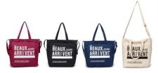 Buy 4 color New 3 in 1 recycle cotton canvas portable shoulder messenger zipper bag