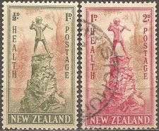 Buy New Zealand: Scott no. B26-B27 (1945), Used Complete Set