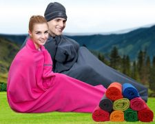 Buy Lightweight portable outdoor travel camping fleece thick sleeping bag