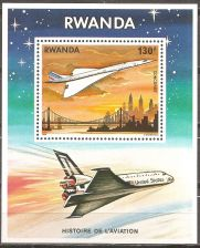 Buy Rwanda: Aviation History (1978) MNH Souvenir Sheet