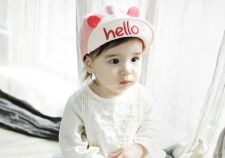 Buy 3-12 months baby spring and summer cuff cotton baseball capv