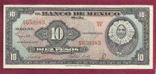 Buy Mexico 10 Pesos 1954 Banknote No S650983 Series EK - TEHUANA GIRL