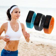 Buy Fashion Unisex Sport LED Waterproof Rubber Bracelet Digital Wrist Watch