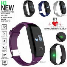 Buy H3 Realtime Smart Heart Rate Monitor Fitness Watch Wristband Pedometer Bracelet
