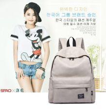 Buy korean candy color waterproof PU leather backpack school bag