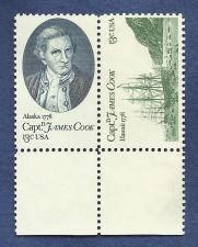 Buy Stamp US Scott 1732-3 Block 1978 Captain Cook Exploration of Hawaii & Alaska MNH