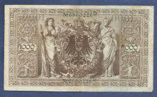 Buy 1910 GERMANY GERMAN EMPIRE BANKNOTE Nr 6860226 D 1000 MARKS Green Seal