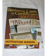 Buy Business Cards & Certificates Deluxe Instruction Manual