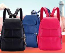 Buy Female Korean leisure leather school bag backpack