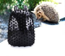 Buy Fashion hedgehog rivet large capacity leather backpack
