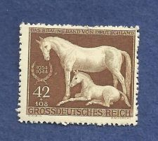 Buy EBS Germany 1944 Brown Ribbon Horse Race MNH Michel No 899 RARE Historic WWII Postage