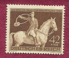 Buy EBS Germany 1943 Brown Ribbon Horse Race MNH Michel No 854 RARE Historic WWII Postage