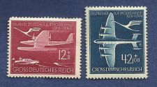 Buy Nazi Germany Third Reich 1944 Luftpostdienst Swastika Plane Airmail Stamps MNH WWII
