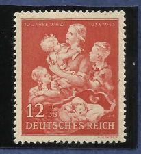 Buy Stamp Germany Mi 859 Sc B246 1943 WWII 3rd Reich Winter Winter Welfare MNH