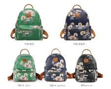 Buy Pucca Love birds female Korean leather backpack