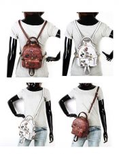 Buy Pucca Monkey female fashion printed messenger backpack