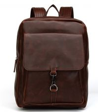 Buy Men's vintage crazy horse leather backpack