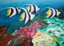 Buy Fishes and Coral Reefs- Original Acrylic Painting