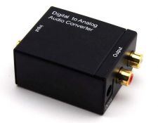 Buy Digital Optical Coaxial Toslink Signal to Analog Audio Converter Adapter RCA L/R