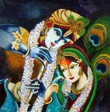 Buy IMMORTAL LOVE- Radha and Krishna Original Painting
