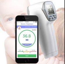 Buy Handheld Bluetooth No Need Contact Infrared Thermometer Monitor & APP for IOS Android