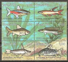 Buy Brazil: Fresh water fish sheetlet (1976). MNH, complete series