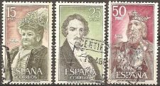 Buy Spain: Historic personalities (1972) Used, Complete 3-value series