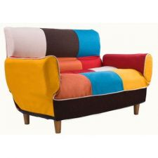 Buy Modern Contemporary Mondrian Inspired Design Convertible Sofa - Home or Office Decor