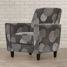 Buy Arm Chair | Club Chair Espresso Wood Legs and Wood Frame Modern Charcoal Print