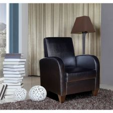 Buy Black Club Chair | NH Collection Solid Wood Frame