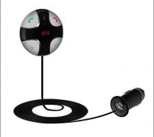 Buy Magnetic Handsfree Bluetooth 3.0 Car Kit FM Transmitter MP3 Player & USB Charger