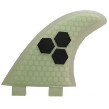 Buy White Color Honeycomb Fiberglass Thruster FCS G-AM Surfboard fin 3pcs for Surf