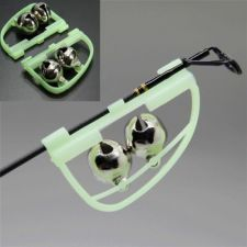 Buy Luminous Light Night Twin Bells Tip Clip On Fishing Rod Bite Alarm