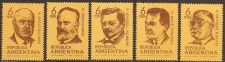 Buy Argentina: Scott no. 897-901 (1969) MNH Compete 5-value issue