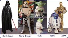 Buy STAR WARS COLLECTOR SET 5-ALL LIFE SIZE BEAUTIFUL REPRODUCTIONS