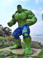 "Buy HULK the original ""JOLLY GREEN GIANT"" – 9.5 ft tall and ALL GREEN"