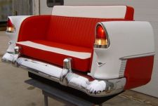 Buy 55-59 Classic Chevy, Ford, MBZ, Caddie CUSTOM CAR COUCHES AND FURNITURE