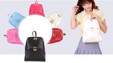 Buy Lady korean style leather backpack school bag