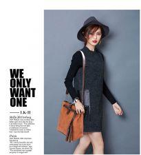 Buy 2016 winter europe lady simple leather handbag shoulder bag Messenger bag