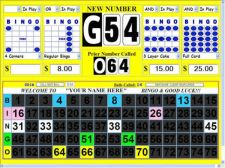 Buy Bingo Software - Deluxe Computer Bingo Calling System / Display Flashboard