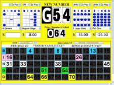 Buy Bingo Software - Deluxe Computer Bingo Calling System / Display Flashboard