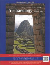 Buy (NEW) Archaeology: Down to Earth 5th INSTRUCTOR'S EDITION 2014 Kelly / Davis 5e
