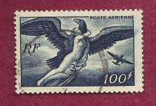 """Buy FRANCE C20 (Mi750a) - Zeus Carrying Hebe """"Airmail"""" Dark Blue"""